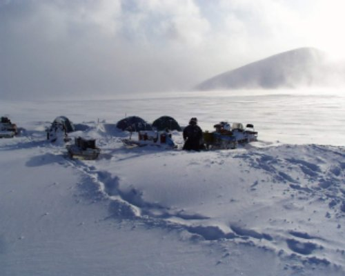 Svalbard research camp