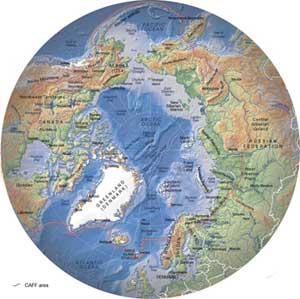 GRID Arendal Topographic map of the Arctic