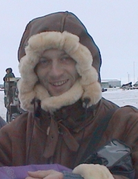 researcher in cold Siberia
