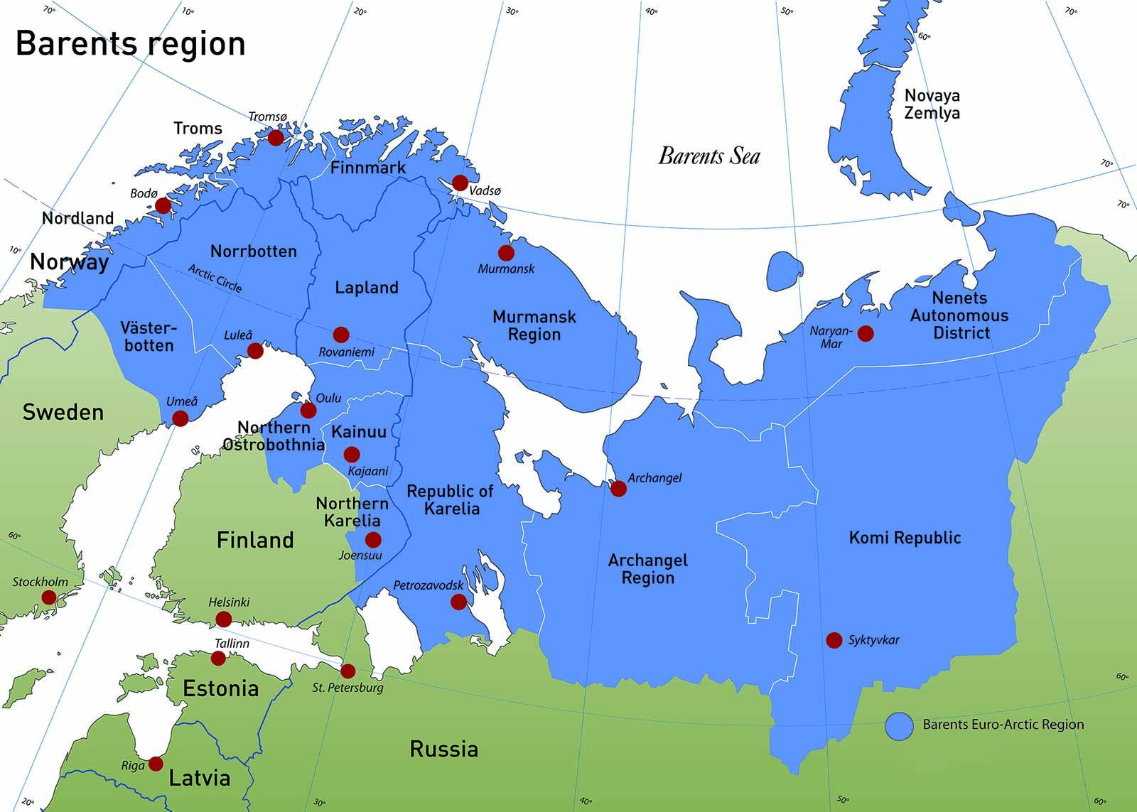 Arctic Region Maps - Arctic map